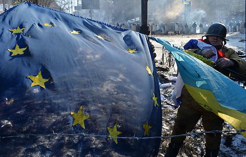 ב-2009 חלה הידרדרות במדד הדמוקרטיה של אוקראינה (צילום: AFP)