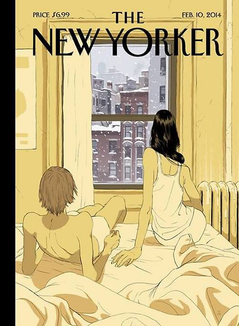 Tomer Hanuka's drawing on The New Yorker cover