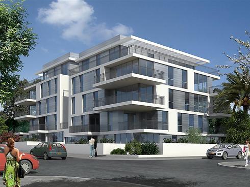 הפרויקט החדש. במקום שני בניינים - שתי כניסות (הדמיה: א.סטודיו) (הדמיה: א.סטודיו)