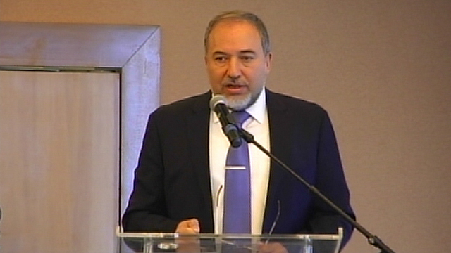 Foreign Minister Avigdor Lieberman, Friday morning (Photo: Hagai Dekel)