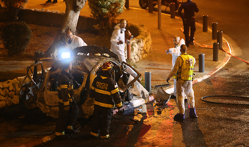 Site of blast in Tel Aviv, Saturday (Photo: Yaron Brenner) (Photo: Yaron Brenner)