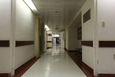 Empty hallways at Hadassah Ein Kerem Hospital in Jerusalem (Photo: Gil Yohanan)