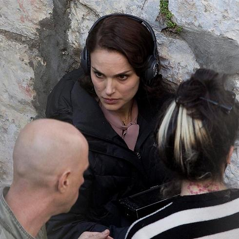 Natalie Portman during shooting of 'A Tale of Love and Darkness' in Jerusalem (Photo: EPA)