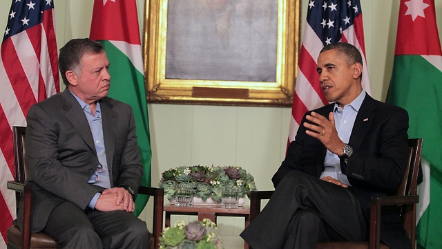 US President Obama and Jordanian King Abdullah (Photo: AP)
