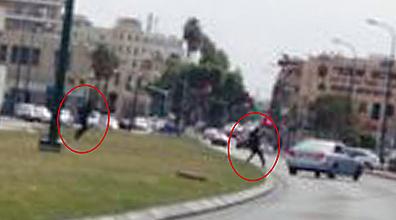 Two people flee scene of Tel Aviv beachfront shooting  (Photo: Oren Rice)