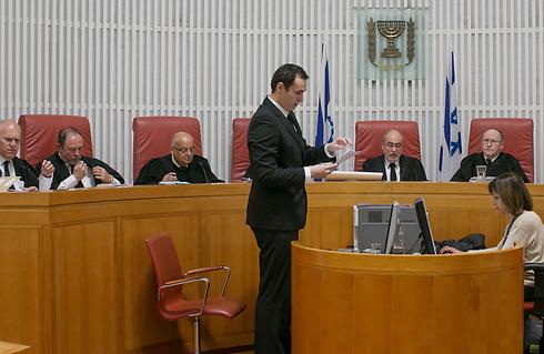 הרכב השופטים בראשות הנשיא לשעבר אשר גרוניס  (צילום: אוהד צויגנברג) (צילום: אוהד צויגנברג)