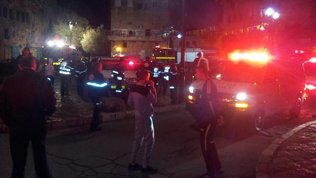 Scene of the explosion (Photo: Ido Beker)