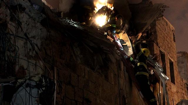 פעולות החילוץ בעכו (צילום: גיל נחושתן)