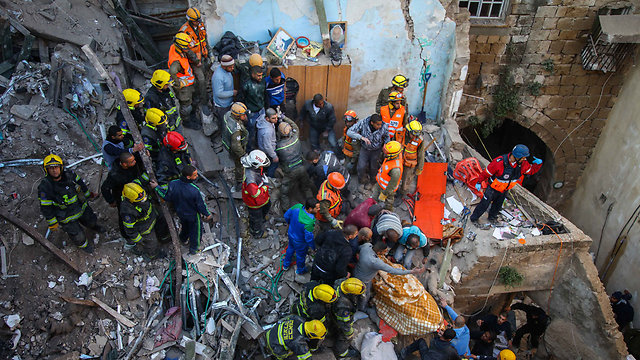 ההרס בבניין אחרי הפיצוץ (צילום: אבישג שאר-ישוב) (צילום: אבישג שאר-ישוב)