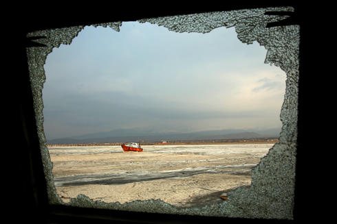 View of what's left of Lake Oroumieh (Photo: AP) (Photo: AP)
