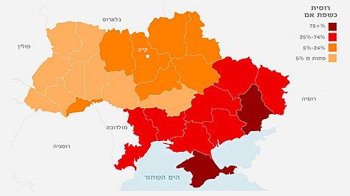 מפת השפות האוקראינית ()