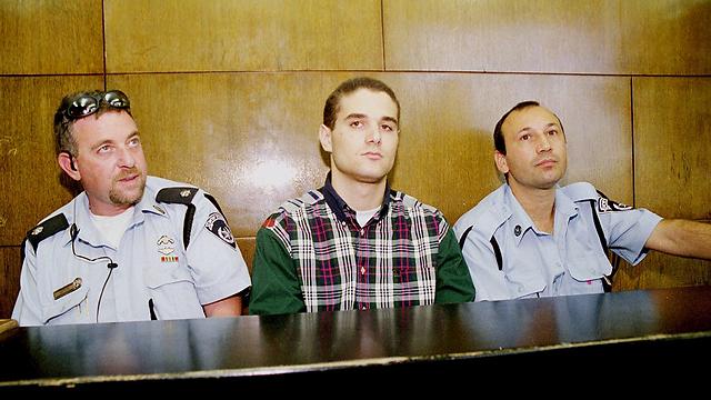 שיינביין (במרכז) בבית המשפט (צילום: הדר כהן) (צילום: הדר כהן)