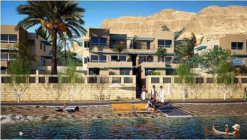 """הדמיית הפרויקט שנקרא """"נופי אדום"""". על קו המים (הדמיה: גל א.מ.ר.ל.ד בע""""מ, איצקין אדריכלים)"""