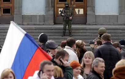 Russian soldier in Crimea (Photo: EPA)