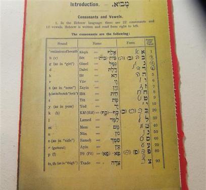 """אותיות האלף-בית מתוך: """"שפת עמנו"""" ספר ללימוד עברית (צילום: מרב יודילוביץ') (צילום: מרב יודילוביץ')"""