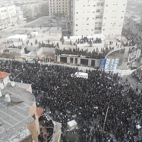 Mass rally in Jerusalem, Sunday (Photo: Eli Mendelbaum) (Photo: Eli Mendelbaum)