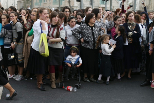 Women were also present at the rally (Photo: Ohad Zwigenberg) (Photo: Ohad Zwigenberg)