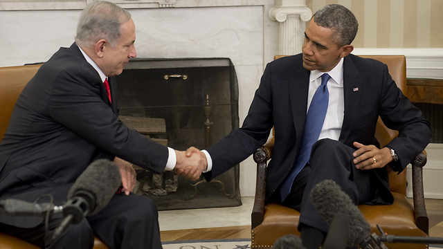 Relations that have seen ups and downs. Netanyahu and Obama at White House (Photo: AFP) (Photo: AFP)