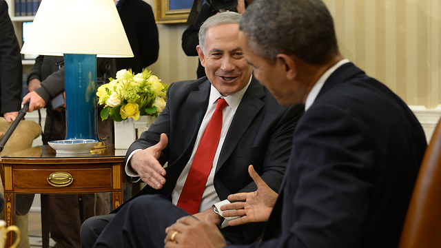 Netanyahu and Obama meeting at the White House (Photo: Avi Ohayon, GPO)