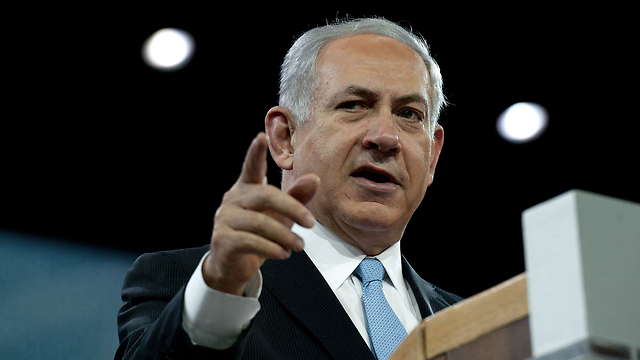 Prime Minister Netanyahu addressing AIPAC this week (Photo: AFP) (Photo: AFP)
