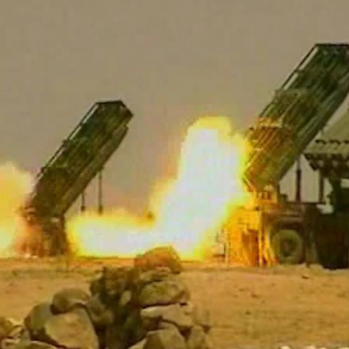 M-302 missiles in action