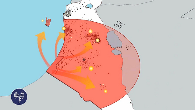 Operational range of M-302 (Photo: IDF Spokesperson's Unit)