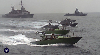 Israeli Navy during operation to seize arms ship (Photo: IDF Spokesperson's Office)