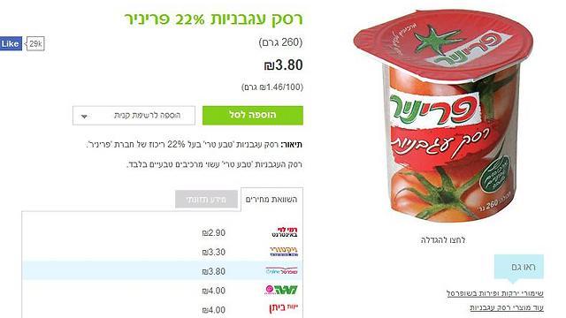 רסק עגבניות במגה באינטרנט: 4 שקלים ()
