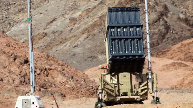 An Iron Dome battery stationed near Eilat (Photo: Motti Kimchi)