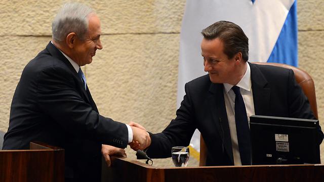 Cameron on a previous trip to Israel (Photo: Haim Tzach)