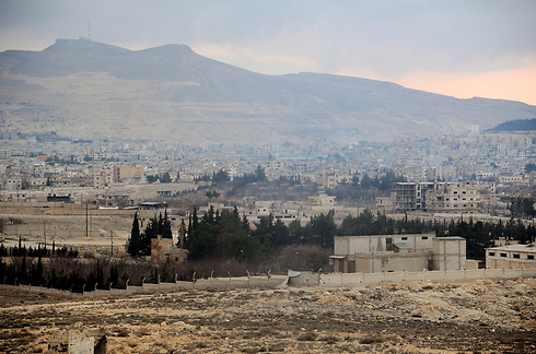 Yabroud after seizure by Assad forces (Photo: AFP/SANA)