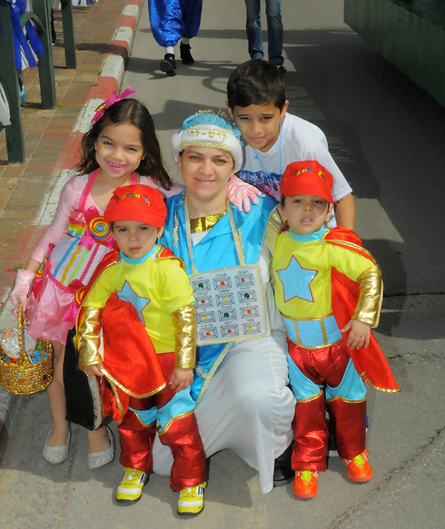 Family costume in Nes Ziona