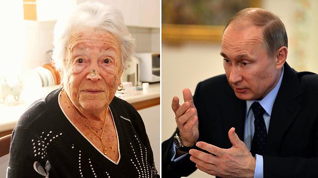 תלמיד מצטיין. נשיא רוסיה פוטין והמורה לשעבר ברלינר (צילום: עידו ארז, AP) (צילום: עידו ארז, AP)