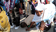 Ethiopian Falash Mura Jews arriving in Israel (Photo: Yariv Katz, Ynet)