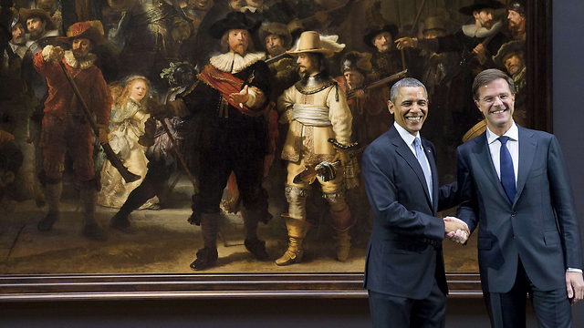 President Obama and Prime Minister Rutte (Photo:AFP)