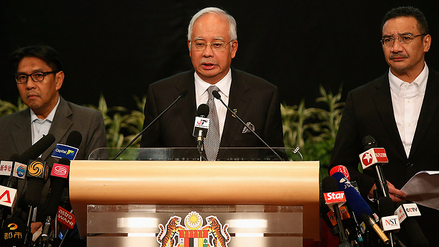 Malaysian Prime Minister Najib Razak at the press conference (Photo: Reuters)