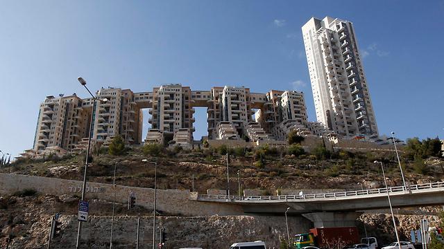 הולילנד. פרויקט המריבה בירושלים (צילום: רויטרס) (צילום: רויטרס)