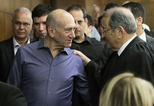 אהוד אולמרט בבית המשפט (צילום: עידו ארז) (צילום: עידו ארז)