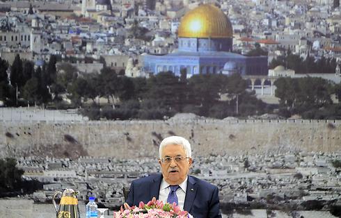 אבו מאזן בכינוס ההנהגה הפלסטינית ()