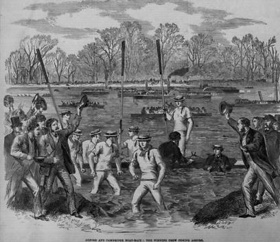 מירוץ הסירות ב-1864. אותו המסלול עד היום (צילום: GettyImages)