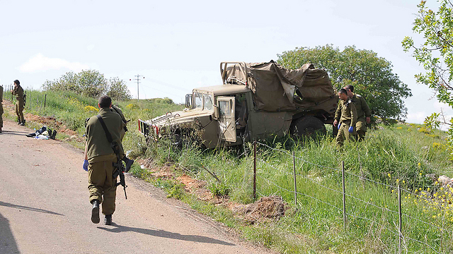 Soldier killed in crash near border with Lebanon (Photo: Avihu Shapira)