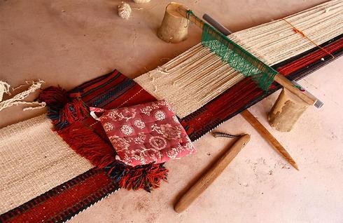 הנול בו השתמשו הנשים בלקייה (צילום: אשלי הול) (צילום: אשלי הול)