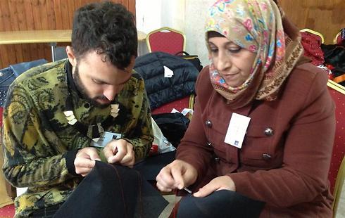 הסטונטים למדו כיצד לרקום - וחזרו עם רעיונות חדשים (צילום: רובי דמלין) (צילום: רובי דמלין)