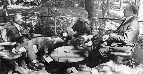 Sadat, Carter, and Begin at Camp David in 1978 (Photo: AP)