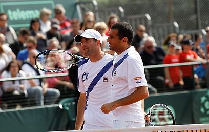 אנדי רם ויוני ארליך (צילום: עפרה פרידמן, איגוד הטניס) (צילום: עפרה פרידמן, איגוד הטניס)