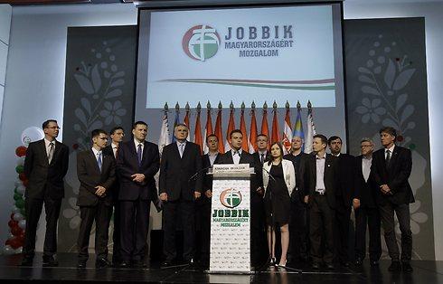 Jobbik members. 'It's important to speak to them,' Lauder says (Photo: AFP)