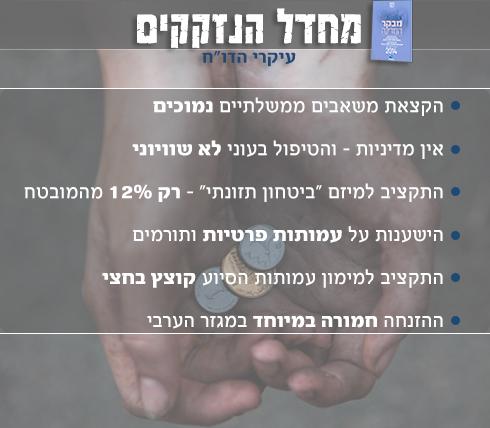 """הטיפול בעוני לא שיוויוני. מתוך דו""""ח מבקר המדינה (צילום: אבישג שאר ישוב) (צילום: אבישג שאר ישוב)"""