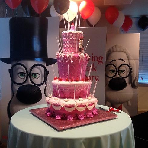 העוגה של מרי אנטואנט שיוצרה על פי עיצובו של גלר (צילום: אבנר גלר) (צילום: אבנר גלר)