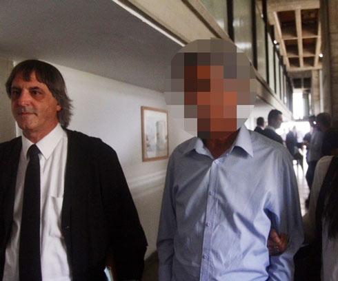 """מנכ""""ל קבוצת הכדורגל, אתמול בבית המשפט (צילום: מוטי קמחי) (צילום: מוטי קמחי)"""