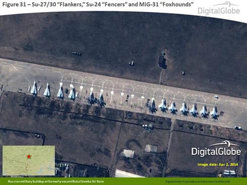 מטוסי מיג וסוחוי רוסיים בקרבת הגבול האוקראיני (צילום: AFP) (צילום: AFP)